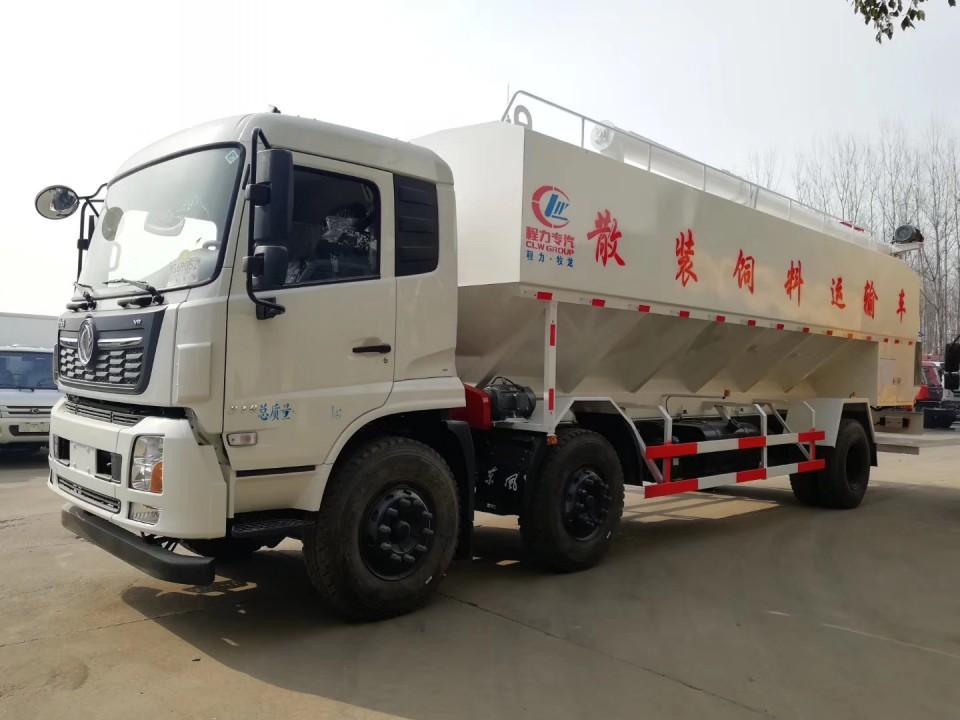 东风天锦30立方程力饲料运输车 (2)